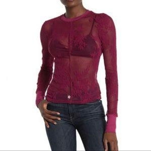 NEW Intimately Free People Cool With It Mesh Top